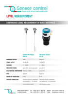 Download flyer Filling Level Measurement | Medición del nivel de llenado
