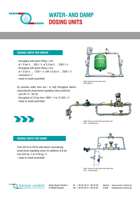 Download Infobrochure Water- and Damp Dosing Units | Unidades de dosificación agua y húmedo